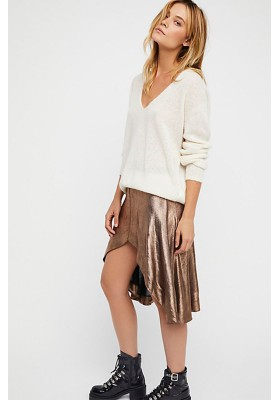 BRONZE REBEL MUSE METALLIC SKIRT