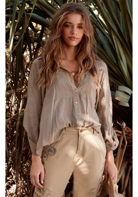 LINDA BLOUSE TAUPE BY SPELL & THE GYPSY DESINGS