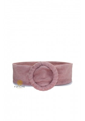 SUEDE BELT POMEGRANATE
