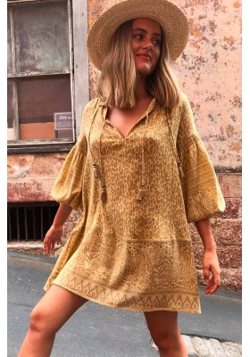WILD THING TUNIC DRESS MUSTARD BY SPELL & GYPSY DESIGNS