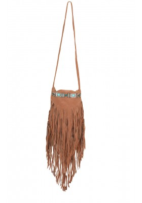 FRIGED GYPSY SUEDE BAG