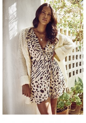 VESTIDO WILDLIFE WRAP DRESS FETICHE SUANCES