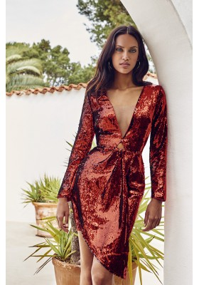 FLAME SEQUINS DRESS FETICHE  SUANCES