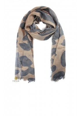FOULARD ANIMAL PRINT MARRÓN