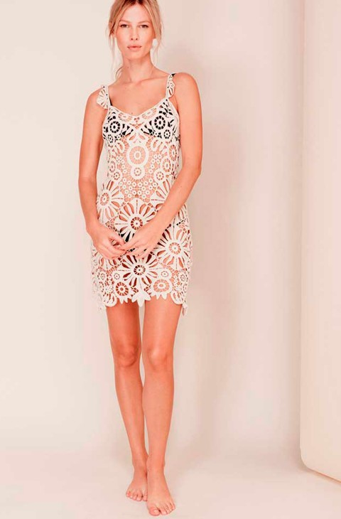 Vestido Crochet Riviera Marfil For Love And Lemons
