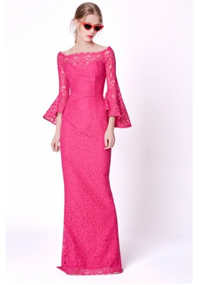 DRESS EVITA FUCSHIA